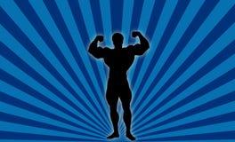 Body Builder !. Silhouette Illustration of Body Builder Male Stock Image