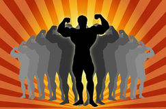 Body Builder ! royalty free illustration