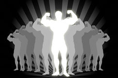 Body Builder !. Power of Body Builder Male Vector Illustration