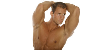Body builder. With muscular abs Stock Photo