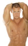 Body builder. With muscular abs Stock Images