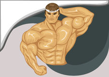 The body builder. The image of an emblem of the body builder showing muscular weight Stock Photography