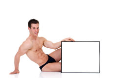 Body Builder advertising board Royalty Free Stock Photography