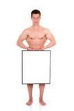 Body Builder advertising board Stock Image