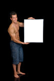Body Builder advertising board Royalty Free Stock Photos