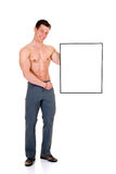 Body Builder advertising board Royalty Free Stock Photo