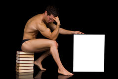 Body Builder advertising board Stock Photography