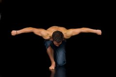 Body Builder, artistic pose Royalty Free Stock Photo