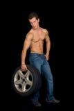 Body Builder, artistic pose Stock Photos