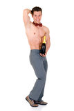 Body Builder, champagne Royalty Free Stock Images