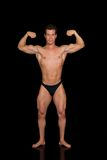 Body Builder, contest pose Stock Image