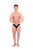 Body Builder, contest pose Stock Images