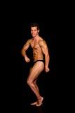 Body Builder, contest pose Stock Photos