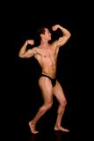 Body Builder, contest pose Stock Photo