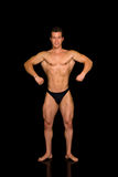 Body Builder, contest pose Stock Photo