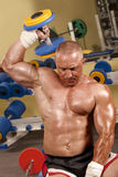 Body builder lifting weights Royalty Free Stock Photo