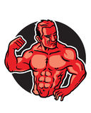Body Builder Logo Royalty Free Stock Images
