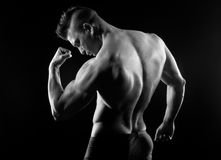 Body builder posing Stock Images