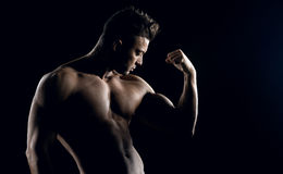Body builder posing Stock Photo