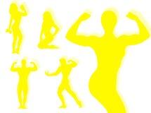 Body builder silhouette Stock Photos