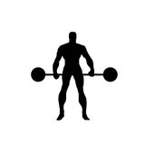 Body builder vector silhouette Stock Photos