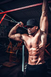 Body Builder Working Out Royalty Free Stock Images
