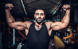 Body Builder Working Out Royalty Free Stock Photos