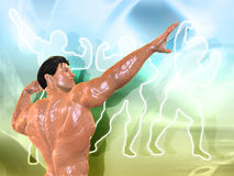 Body Building Background. 3D Body Building Background Royalty Free Stock Photography