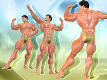 Body Building Background Royalty Free Stock Photos