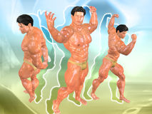 Body Building Background. 3D Body Building Background Royalty Free Stock Images