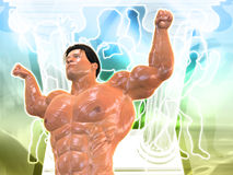 Body Building Background. 3D Body Building Background Stock Photography