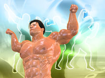 Body Building Background. 3D Body Building Background Royalty Free Stock Photo