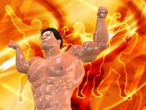 Body Building Background. 3D Body Building Background Royalty Free Stock Photos