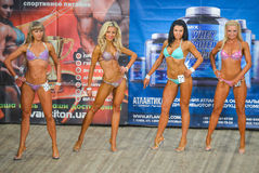 Body-building competition Royalty Free Stock Photos