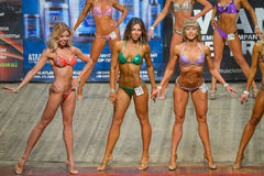 Body-building competition Royalty Free Stock Image