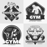 Body Building Emblem Set Royalty Free Stock Images