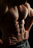 Body Building , Extreme muscle man Royalty Free Stock Images