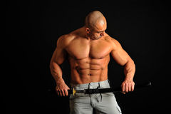Body Building , Extreme muscle man Stock Photography