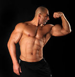 Body Building , Extreme muscle man Royalty Free Stock Image