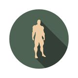 Body building icon Stock Images