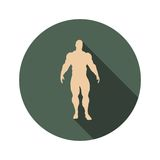 Body building icon Royalty Free Stock Photography