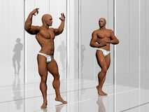 Body building, lifestyle. Royalty Free Stock Image