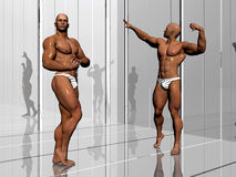 Body building, lifestyle. Royalty Free Stock Images