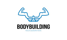 Body Building Logo. Minimalist and modern gym template. Simple work and adjusted to suit your needs Stock Image