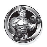 Body-building man Stock Image