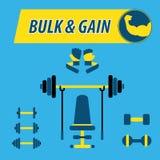 Body Building-Masse und Gewinn Stockbild