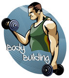 Body building training session Stock Image