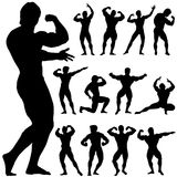Body building vector Stock Photos