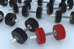 Body building weight. 3d illustration Royalty Free Stock Images