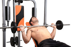 Body building workout Stock Photos